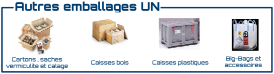 cartons caisses bigbags homologues UN