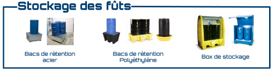 retention et box pour futs